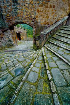 Streets of Pitigliano, Tuscany, Italy