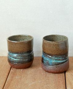 Small Ceramic Cups Set of 2 Small Tea Cups - ShellyClayspot