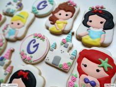 Biscoitos Decorados Confeitados | Princesas