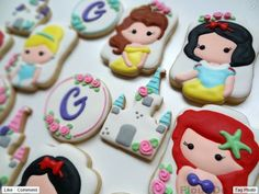 """""""I like these princess cookies because they are all my favorite princesses as kids."""""""