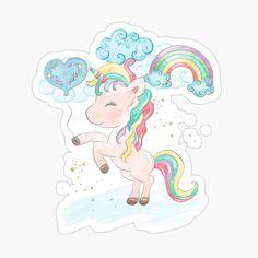 Scrapbook Stickers, Glossier Stickers, Cotton Tote Bags, Princess Peach, Unicorn, My Arts, Scrapbooking, Rainbow, Art Prints