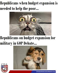 """Increased budget spending must be OK as long as the money isn't going to help the poor, homeless, expanding healthcare, jobs...Last night, how many times did we hear """"increase funding for military, security""""?!"""