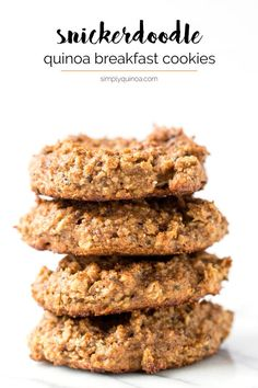Wish you could have cookies for breakfast every day? These Snickerdoodle Quinoa Breakfast Cookies are a super healthy recipe that tastes like dessert but is nutritious and SO FLAVORFUL!