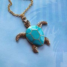 Turtle Pendant , Nautical, Ocean Pendant, Pendant, Gift Ideas, Beach, For Her, Trending Items