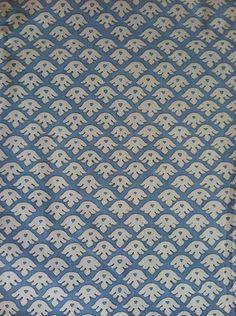 Groves Brothers, blue & white, mini print