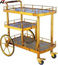 restaurant ti gold stainless steel wine serving cart httpwwweverychina - Dining Room Serving Carts