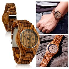 Fashion BEWELL Wood Watch Wooden Quartz Date Display Men's Wristwatch Wood Band in Jewelry & Watches, Watches, Parts & Accessories, Wristwatches | eBay