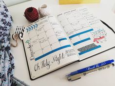 """2 Likes, 1 Comments - Eszti (@thebluecharm) on Instagram: """"My first monthly log. Clear and simple for important events and tasks. According to my sister, I am…"""""""