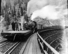 Freight Train ~ On the Moffat Road ~ Colorado ~ 1910