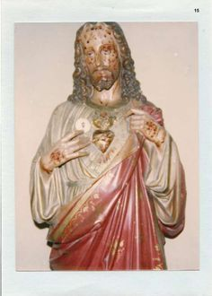 """Eucharistic Miracle of Saint-Christ-Briost, France 1979: A House that belonged to a priest had our Lord's statue in it. Miraculously a host appeared and also the bloody Passion wounds appeared on his head and hands. The priest reported what Jesus said during this supernatural event """"Your days, more than ever, men are eager to see miracles, to hear what's new. And the most beautiful of all the miracles go unnoticed for many: it is my Eucharist..."""""""