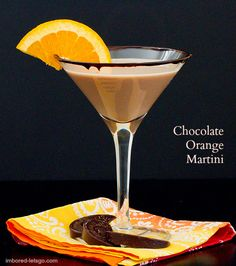 Chocolate Orange Martini - Delicious!!!