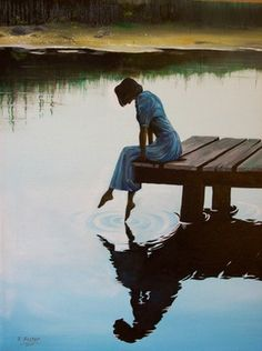 """reflections"" by robert foster - beautiful rendition of tranquility and relaxation...   My toes wiggled! :)"