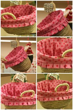"""TELA MARINERA"", patchwork ...: Cabassos Basket Liners, Bamboo Basket, Creation Deco, I Love Mom, Girls Bags, Custom Bags, Diy Accessories, Handmade Bags, Purses And Bags"