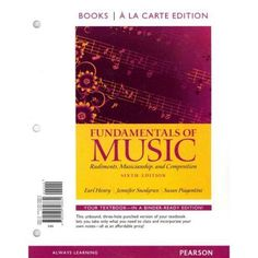 Fundamentals of Music, Books a la Carte Edition