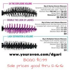 Define your eyelashes the way you want! BOGO $0.99!! https://www.avon.com/brochure?rep=dgari #eyelashes #BOGO #makeup #avon #mascara