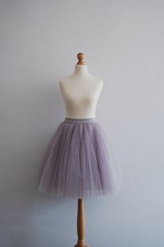 Blooming Ballerina : hand dyed tulle skirt / adult tutu / ladies tulle skirt / bridesmaid / custom dyed skirt / dusty lavender