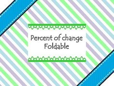 Percent Of Change And Percent Of Error Practice Sheet 7