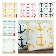 Listing includes 1 anchor pillow cover. You can choose any fabric you would like by the options above. accent pillow, throw pillow, decorative pillow, nautical pillow, yellow pillow, pink pillow, navy pillow, mint pillow
