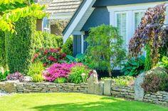 44 Beautiful Front Yard Garden Landscaping Design Ideas And Remodel - Home & Garden Garden Landscape Design, Small Garden Design, Garden Care, Garden Beds, Minimalist Garden, Delphinium, Front Yard Landscaping, Landscaping Ideas, Spring Garden