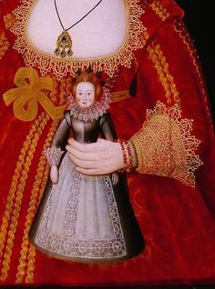 Follower of William Larkin (1580–1619); Three Young Girls. Detail.