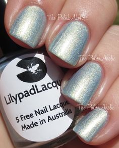 Lilypad Lacquer Delicate Duos Collection & Cartjacked (Nail Polish Canada Exclusive) Swatches & Review  Golden Sea is a light aqua with a golden flash of shimmer.
