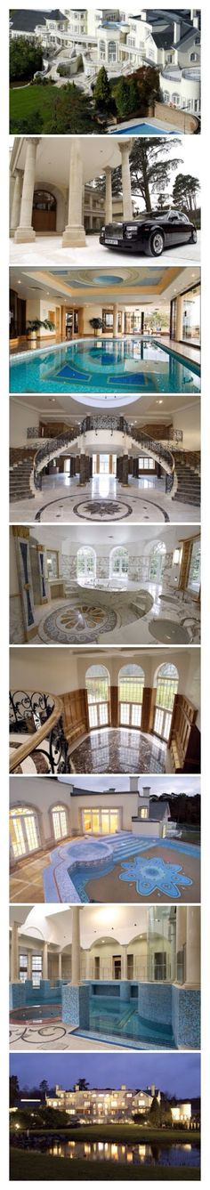 This house is one of the biggest private homes in England , and I believe it's in surey - Dream Homes #luxurymansion