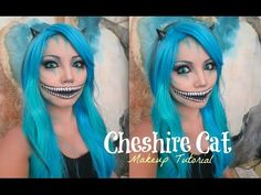 Freaky Cheshire Cat Makeup Tutorial ( Halloween 2014) - YouTube