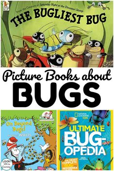 Read some of these picture books about bugs during summer read aloud time with kids! Best Toddler Books, Best Children Books, Childrens Books, Bug Activities, Summer Activities For Kids, Reading Activities, Reading Lists, Art Books For Kids, Toddler Preschool