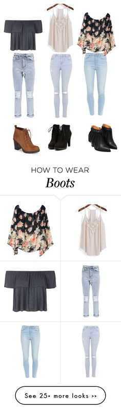 """Boots and pants"" by guardprincess on Polyvore featuring Topshop, Circus By Sam Edelman, Boohoo and Paige Denim"