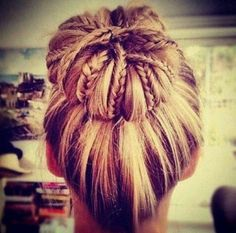 Top 15 braided bun hairstyles for women. Gorgeous braided bun hairstyles for girls. Bun hairstyles for long hair. Summer Hairstyles, Pretty Hairstyles, Braided Hairstyles, Hairstyles Haircuts, Wedding Hairstyles, Girly Hairstyles, Popular Hairstyles, Latest Hairstyles, Romantic Hairstyles