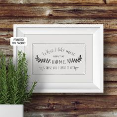 Love quote art print handprinted on fabric. Original gift for the wedding couple. Can be personalised with names and dates. Hand printed on fabric by My Home and Yours