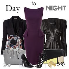 """""""Day to Night"""" by chelseagirlfashion on Polyvore"""