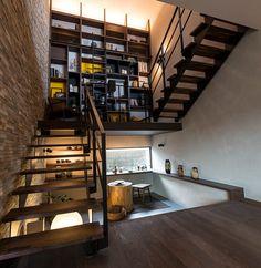Small House Interior Design, Bathroom Interior Design, Modern House Design, Staircase Storage, Staircase Design, 40x60 House Plans, Residential Architecture, Architecture Design, Room Under Stairs