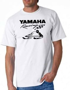 Check out this item in my Etsy shop https://www.etsy.com/listing/544314698/yamaha-racing-snowmobile-white-t-shirt