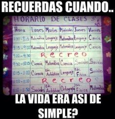 ¿Recuerdas cuando la vida era así de simple?