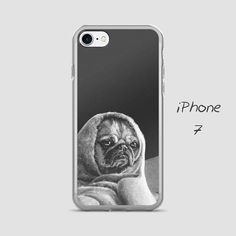 Black and white iPhone case, Cute iPhone case, Puppy, Dog, iPhone 5, 5S, 6/6S, 6/6S Plus, 7, 7 Plus