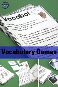 Fun vocabulary games for middle school social studies classroom. The vocabulary … Fun vocabulary games for middle school social studies classroom. The vocabulary games could be used in any subject classroom to teach content words. Academic Vocabulary, Teaching Vocabulary, Grammar And Vocabulary, Vocabulary Activities, Games For Middle Schoolers, Middle School Science, Social Studies Games, Social Studies Classroom, Content Words