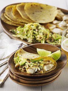 Fisch-Tacos mit Walnuss-Krautsalat
