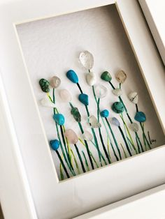 'Field of Blue' by Rebecca Kate. Far Far Away Art, Etsy. Perfect piece to compliment light blue decor.