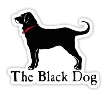 The Black Dog Stickers Dog Branding, Jack Rabbit, Dog Lady, Natural Peanut Butter, Stick It Out, Dog Treats, Summer Days, Puppies, Stickers