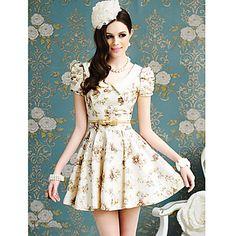 floral de las mujeres print dress columpio – EUR € 32.91