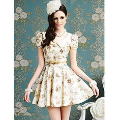 Womens Floral Print Swing Dress – USD $ 39.89