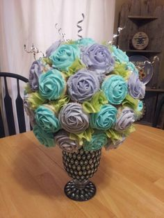 flower bouquet out of cupcakes - Google Search