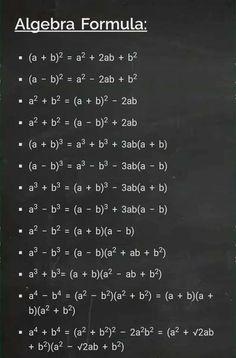 Math Vocabulary, Maths Algebra, Life Hacks For School, School Study Tips, Cool Math Tricks, Schul Survival Kits, Math Formula Chart, Algebra Formulas, Math Tutorials