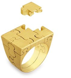 antonio bernardo puzzle ring- can totally see myself loosing a piece of the ring