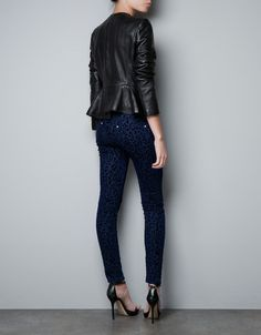 I'm in love with the peplum leather jacket from Zara
