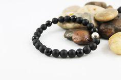Unisex Black Onyx Bracelet by Jewelshart, $35.00