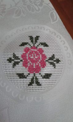 This Pin was discovered by Mar Butterfly Cross Stitch, Cute Cross Stitch, Cross Stitch Borders, Cross Stitch Rose, Cross Stitch Flowers, Cross Stitch Designs, Cross Stitching, Cross Stitch Patterns, Ribbon Embroidery