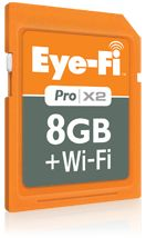 Eye-Fi Pro X2 $99.99  Instant uploads directly from your camera to your iPhone, iPad or Android tablet.
