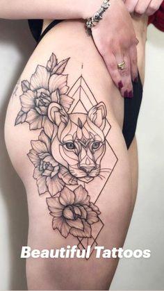 Hip Tattoos Women, Trendy Tattoos, Sexy Tattoos, Body Art Tattoos, Small Tattoos, Sleeve Tattoos, Tattoos For Guys, Animal Tattoos For Women, Tattos